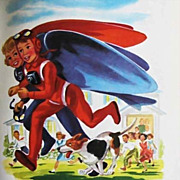 1954 'SkyJets For Fliers of Tomorrow' RARE First Edition, Lithograph Art, Jetpacks, Out-Of-Pri