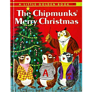"SOLD 1959 'The Chipmunks' Merry Christmas' Little Golden Book ""A"" First Printing, Ri"