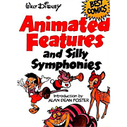 SALE Walt Disney Animated Features and Silly Symphonies, Illustrated, 1980 1st Ed, Cartoons, C