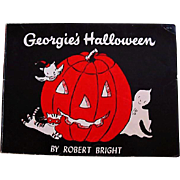 SALE 1958 'Georgie's Halloween' Robert Bright Illustrations, First Edition, Ghost Story, ...