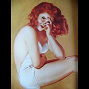 SALE 1991 'Varga', 1940's Calendar Art, Pin-Up Girls, Cheesecake, Esquire Magazine, Alberto