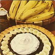 SOLD SCARCE 1947 Advertising Cookbook 'Bananas' -  Illustrated / Recipes / Vintage / Fruit