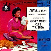 SOLD Annette Funicello SCARCE 'Mickey Mouse Club' - 1962 Disneyland Record / Television /