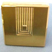 SOLD ART DECO 1930's 'Signed' Max Factor Hollywood Compact – Goldtone / Vintage /  FASHION