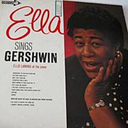 SOLD 1950's 'Ella Sings Gershwin' Record, Ella Fitzgerald, Jazz - George Gershwin, Ellis Larki