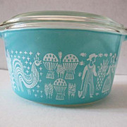 SOLD Pyrex Butterprint Amish 1 Qt Oven Casserole - Cinderella Handles, 473, Made in USA, Glass
