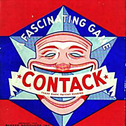 SOLD 1939 Parker Brothers Contack Game, Original Box, Complete, Vintage