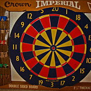 """SOLD RARE 17"""" English Professional Dart Board, Unused, 1970's - Double-sided, Crown Imperial"""