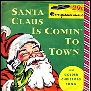 1958 Santa Claus Is Comin' To Town, Christmas Little Golden Record 45RPM - Mitch Miller ...