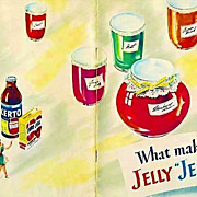 "SALE 1951 'General Foods' What Makes Jelly ""Jell""? Cookbook, Illustrated, Canning, A"