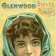 SOLD Antique 1800's Victorian Advertising Trade Card - LITHOGRAPH / Glenwood Stoves