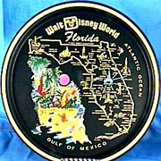 SOLD Walt Disney World Florida Tray, Collector's Vintage – Mickey Mouse, Donald Duck, GoofyS