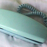 """SOLD Vintage Western Electric Turquoise Telephone -  """"Trimline"""" Rotary Dial"""