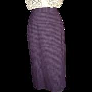 1950's Purple Checked Pencil Skirt