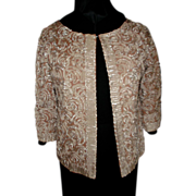 1980's  Ribbon Work Shorty Jacket