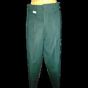 1940's Hunter Green Men's Wool Pants  28/30