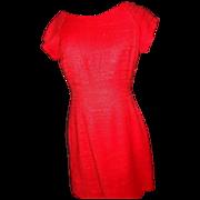 1950's Coral Sheath M