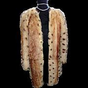 Dyed Sheepskin 1940's Style Coat S/M
