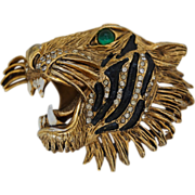 1940's Hattie Carnegie Tiger Brooch