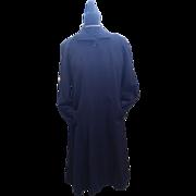 1950's Navy Blue Wool Gabardine Coat