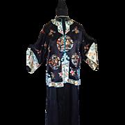 Embroidered Oriental Silk Jacket