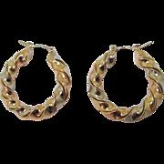 SALE Vintage 14K Gold Earrings Hoops