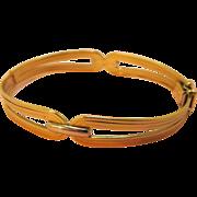 Vintage 14K Gold Bracelet Hinged Bangle
