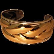 Vintage Kabana 925 14K Gold Cuff Bracelet