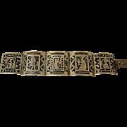 Vintage Silver Bracelet Central American Links
