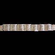 Vintage Peru 900 Silver Bracelet Tribal Llamas