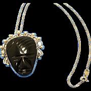Vintage Los Ballesteros Pin/Pendant Taxco Warrior Face