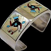 Vintage Tony Ohmsatte Bracelet Zuni Inlay
