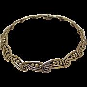 Vintage Los Castillo Necklace Taxco Silver