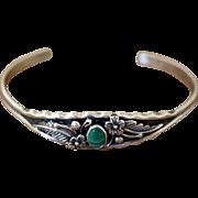 Vintage Navajo Silver Bracelet Petite