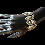 Mexican Silver Bracelet Pre Columbian 1940s