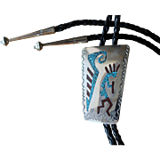 Vintage Navajo Silver Bolo Tie Kokopelli