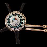 Vintage Kallestewa Bolo Tie Zuni Inlaid