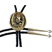 Vintage Hopi Bolo Tie Marvin Lucas Haquahyeoma