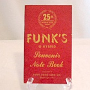 SOLD Vintage Collectible Funks Seed Corn 25th Anniversary Souvenir Note Book~UNUSED~1941