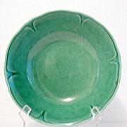 "SALE Vintage Collectible Mount Clemens Round Dark Green Vegetable Bowl 8 ½"" Petal Ware P"