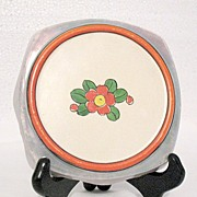 Vintage Collectible Porcelain Hot Plate with Iridescent Colors 1920-30s Japan
