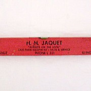 SALE Vintage Collectible Advertising Level For Case Farm Equipment by H.H. Jaquet of Walnut ..