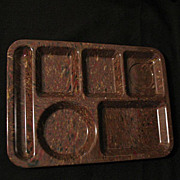 Vintage Collectible Retro Texas Ware Confetti Design Food/Serving Tray in Hard Plastic Mint Un