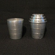SALE Vintage Collectible 2-Aluminum Smoothie Malted Milk Shakers & MIxers 1920-30s