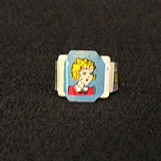 Vintage Collectible Premium Post Toasties Cereal Company Toots Litho Tin Ring 1949
