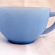 SOLD Vintage Collectible Canadian Delphite Blue Depression Glass Cup by Pyrex MacBeth-Evans Di
