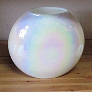 SOLD Vintage Hand Blown Opalescent/Iridescent Pillow Vase 1960s Mint