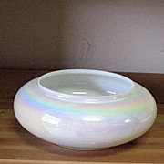 SOLD Vintage Hand Blown Opalescent/Iridescent Bowl/Vase 1960s Mint