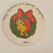 SALE Vintage Collectible Garfield Christmas Wish To A Special Daughter Plaster Plaque Mint
