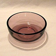 Vintage Collectible Amethyst Round Bowl 1960s Mint